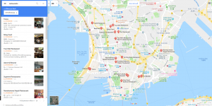 Google map restaurants