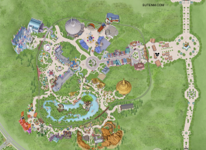 Map of hong kong disneyland